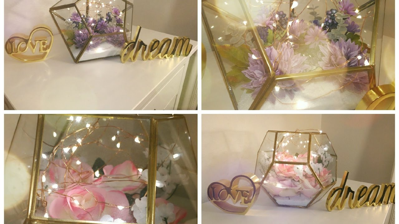 Floral And Fairy Light Terrariums Youtube