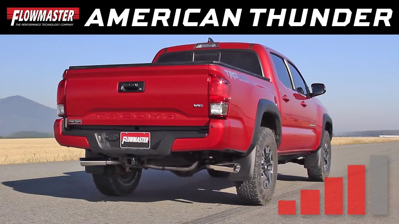 2016 20 toyota tacoma 3 5l american thunder exhaust system 817719