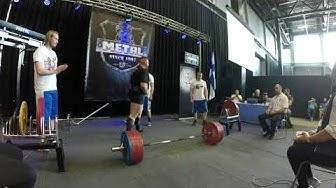 Asko Karu 390 kg maastaveto. WPC voimanosto SM 18-19.5-2019 Lahti