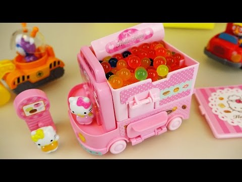 Thumbnail: Hello Kitty orbeez food car Pororo car toys with baby doll play