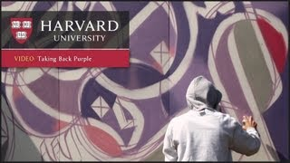 Street artist eL Seed paints at Harvard