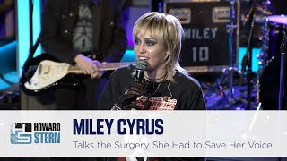 Miley Cyrus on the Surgery She Had to Save Her Voice