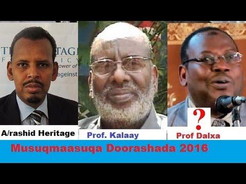 Dood Doorashada Somalia 2016 Musuqmaasuqa Doorashada