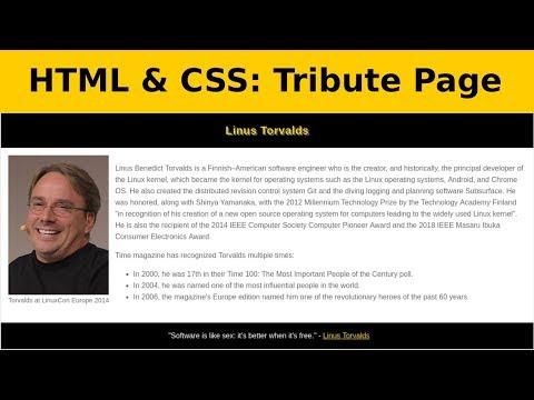 HTML & CSS Untuk Pemula: Tribute Page