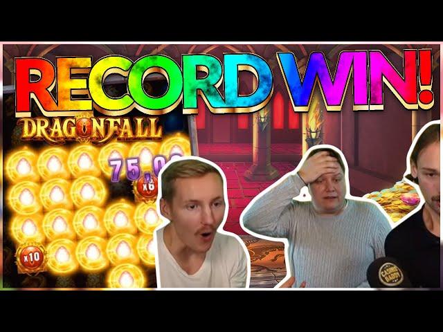 RECORD WIN! Dragon Fall Big win - HUGE WIN - Casino Games from Casinodaddy Live Stream