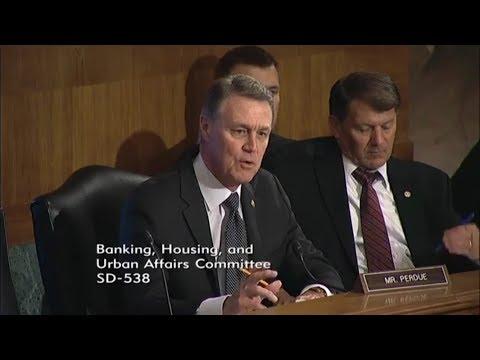 Senator David Perdue in Banking Committee