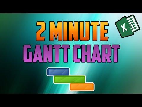 Excel 2016 : How to Make a Quick Gantt Chart