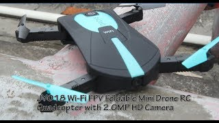DX:JY018 Wi-Fi FPV Foldable Mini Drone RC Quadcopter with 2.0MP HD Camera