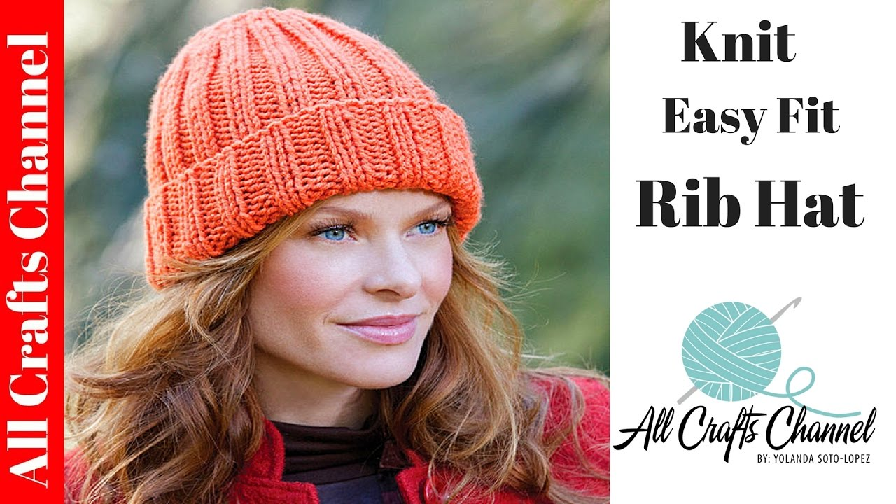 How to Knit an Easy Fit Ribbed Hat - Yolanda Soto Lopez - YouTube 432246b4d21