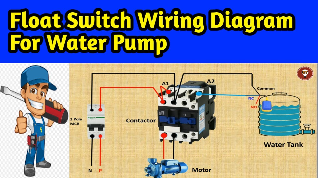 Float Switch Wiring Diagram For Water Pump Using Contactor