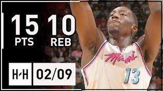 Bam Adebayo Full Highlights Heat vs Bucks (2018.02.09) - 15 Pts, 10 Reb, 2 Blks off the Bench!