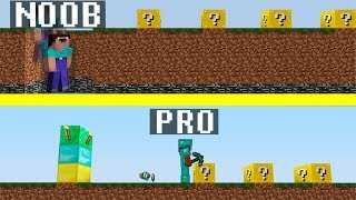 Minecraft Noob vs Pro : LUCKY BLOCK race challenge - funny Minecraft battle - Florie