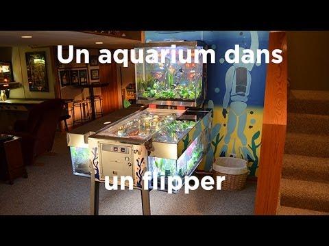 un aquarium dans un flipper aquamen youtube. Black Bedroom Furniture Sets. Home Design Ideas