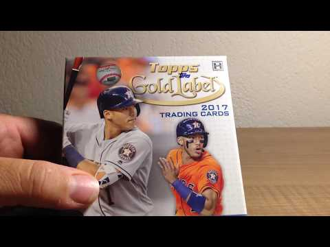 Opening a Hobby Box of 2017 Topps Gold Label Baseball Cards