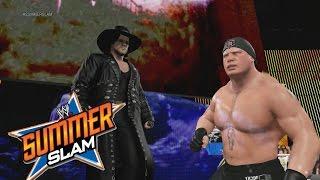 WWE 2K15 Gameplay - Brock Lesnar VS The Undertaker, las Puertas del Infierno