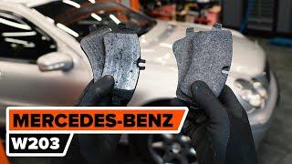 Kā mainīties priekšā un aizmugurē Bremžu uzlikas MERCEDES-BENZ C-CLASS: video pamācības