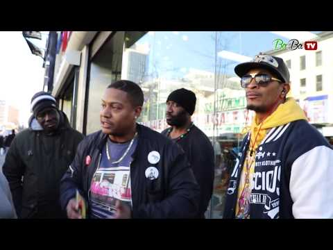 BROTHER SANKOFA & REDPILL TURN UP ON 125TH STREET