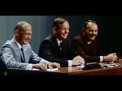 Послеполётная пресс-конференция Аполлон-11