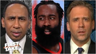 Stephen A. & Max react to James Harden's absence from Rockets' training camp | First Take
