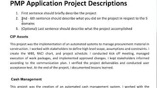 How to Write PMP Application Descriptions (Examples Provided) thumbnail