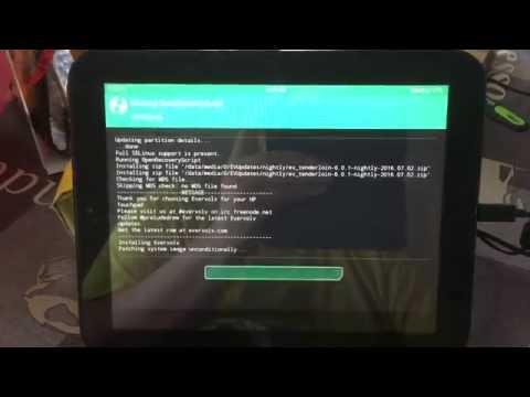 Android auf einen HP Touchpad Installieren und Problem Lösung
