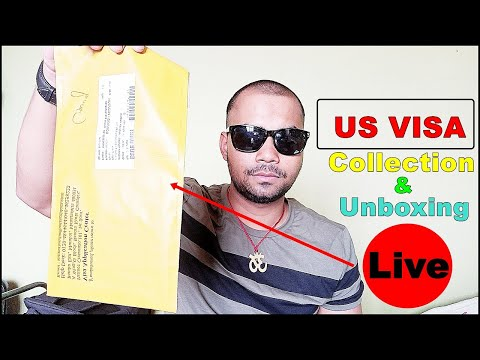US VISA Collection & Unboxing Live