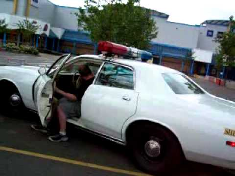 Police Car For Sale >> Dukes of Hazzard cop car siren and lights Rosco American police car in UK - YouTube