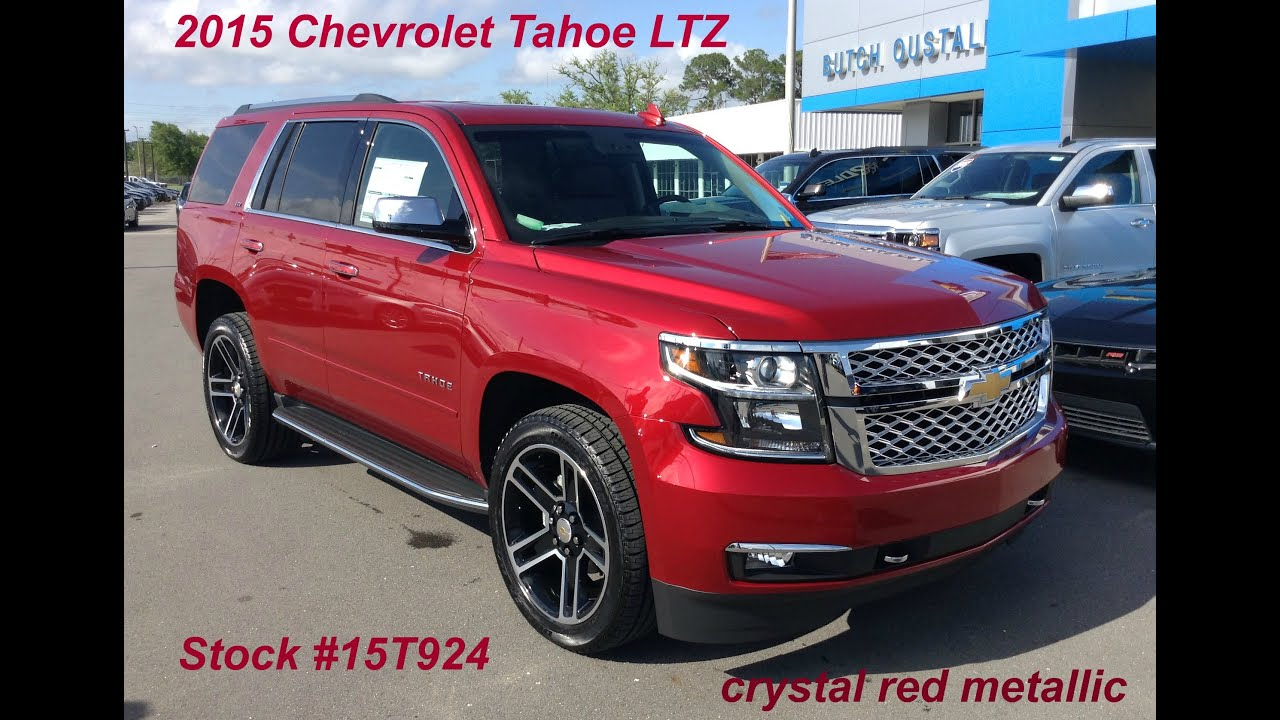 2015 Chevrolet Tahoe Ltz In Crystal Red Metallic Stock