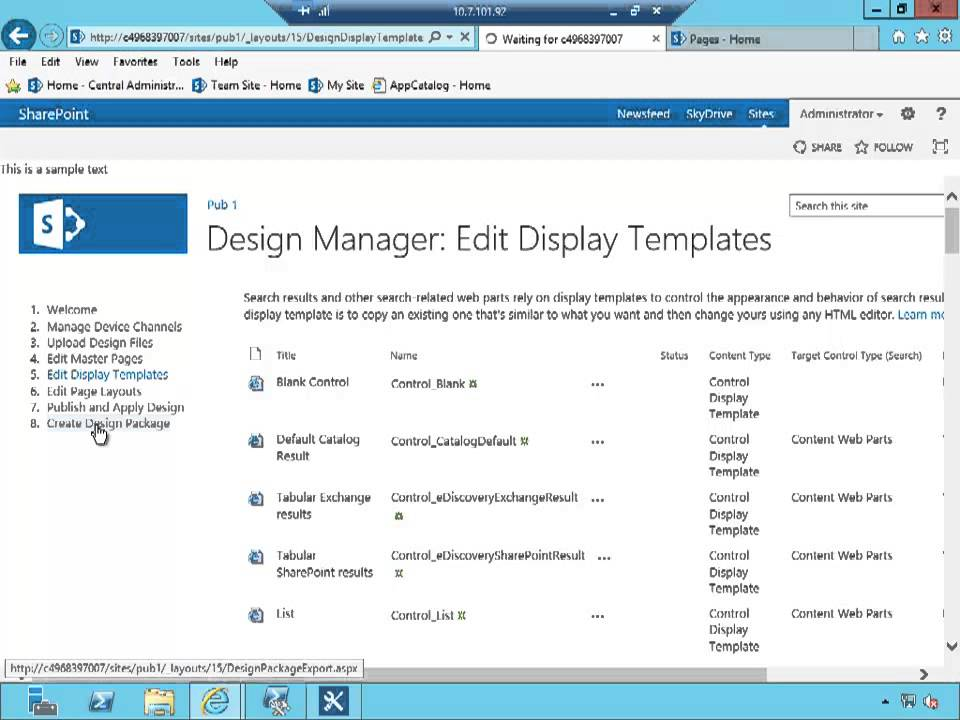 How to use SharePoint 2013 design manager to package your branding ...