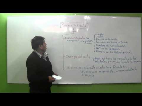 Que es el Acta, Partes del Acta y Modelos de Acta [Clase08 - Cuarto Grado]