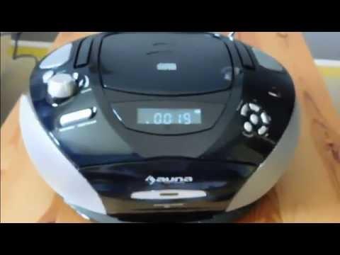 test poste radio k7 cd usb fm mobile rcd220 auna youtube. Black Bedroom Furniture Sets. Home Design Ideas