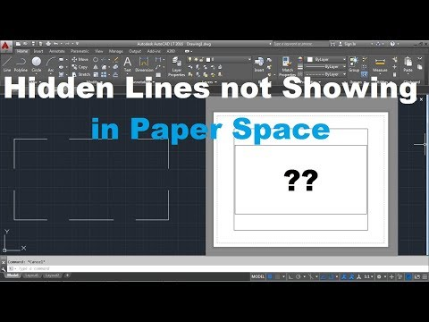 AutoCAD Hidden Lines Not Showing In Paper Space / Layout | Appear Solid In Layout