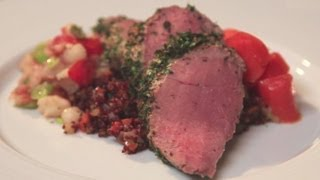 Herb Crusted Pork Tenderloin With Quinoa Pilaf & Glazed Carrots Recipe - Dinner Boot Camp - Ep 6