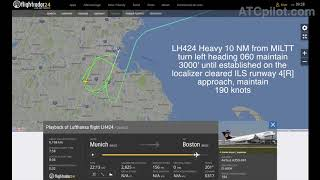 "[REAL ATC] LUFTHANSA A350 - ""FUEL LOW SITUATION"" in Boston - ""We have to declare Emergency"""