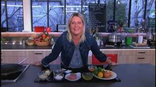 Fricassée de veau et frites sablées, la recette de Luana Belmondo - C à vous - 09/03/2015