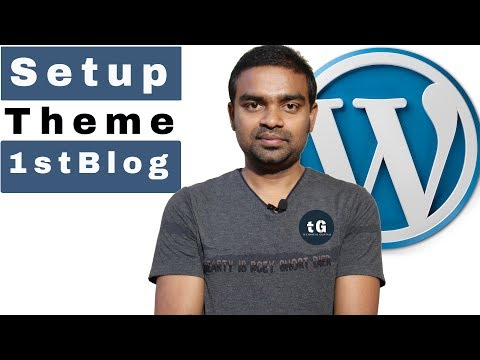How to Setup  WordPress | How to write my first post in wordpress | Best Theme selection