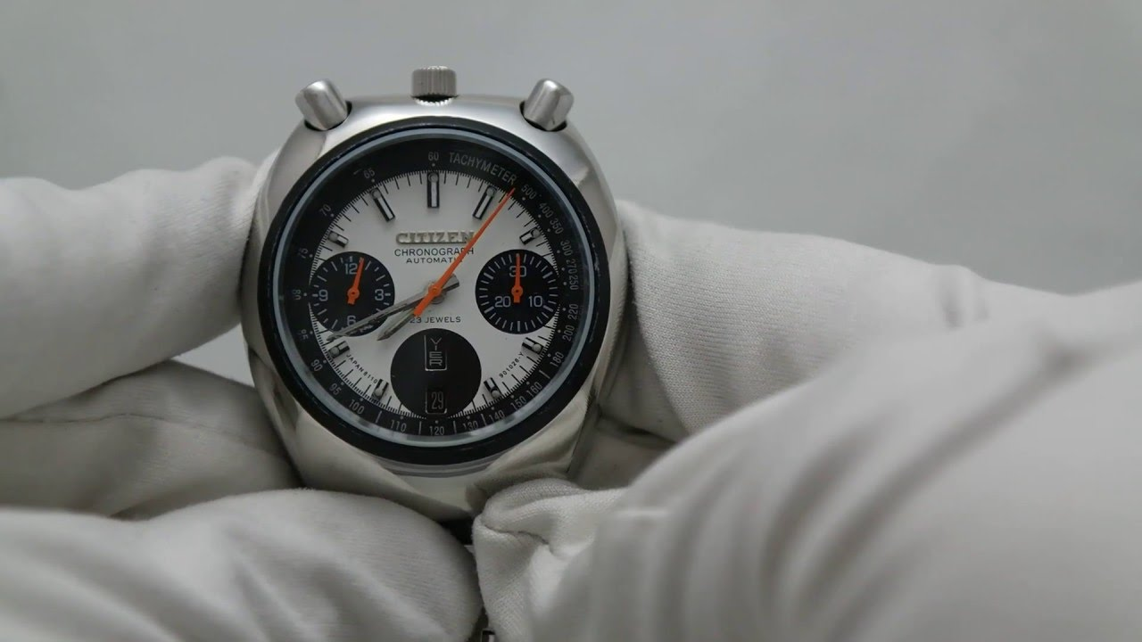 834ae6d56 COLLECTIBLE VINTAGE CITIZEN BULLHEAD CHRONOGRAPH AUTOMATIC WATCH ...