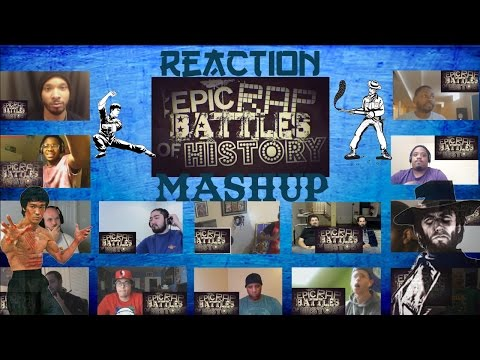 Bruce Lee vs Clint Eastwood Epic Rap Battles of History Reaction Mashup