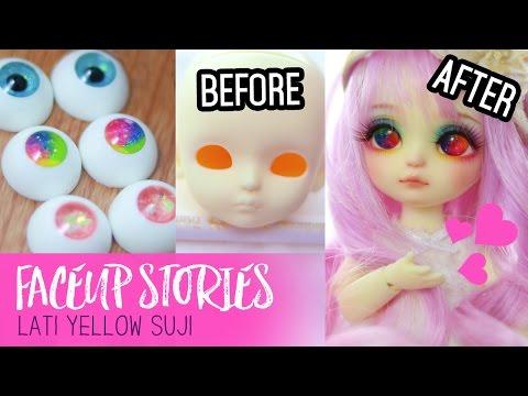 Repainting Dolls - Lati Yellow Suji - Faceup Stories ep.52