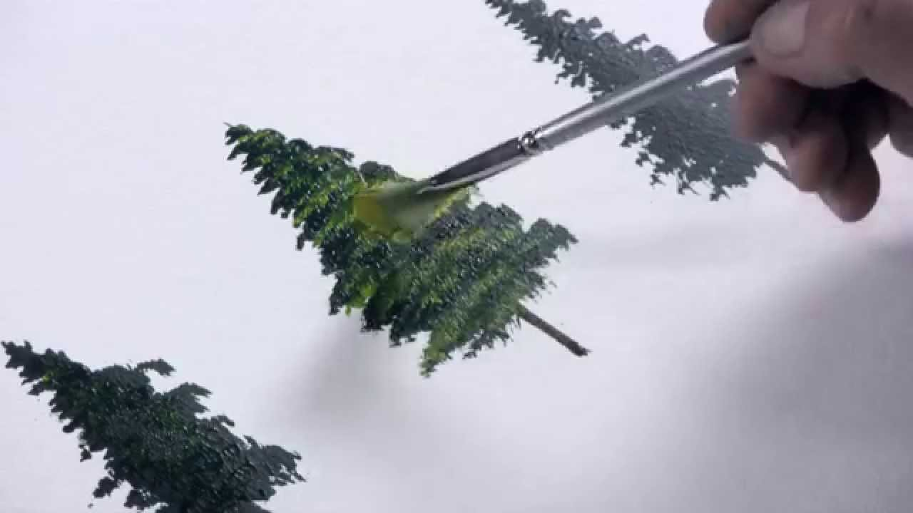 Acrylmalerei Einen Tannenbaum Malen Mit Dietmanns Maltechnik Youtube