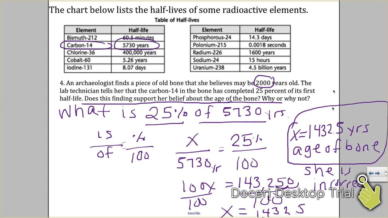 {Radiometric Dating Absolute Dating Explaination Worksheet YouTube – Radioactive Dating Worksheet