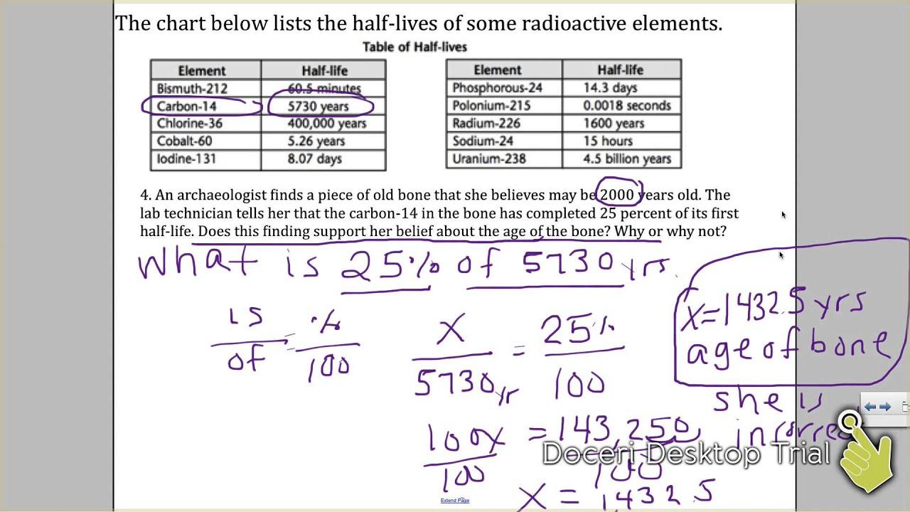 Radiometric Dating Absolute Dating Explaination Worksheet ...