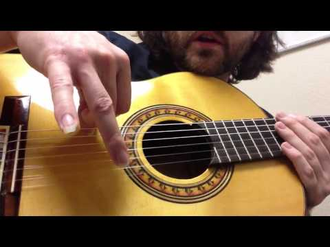 Flamenco guitar technique: rasgueado patterns