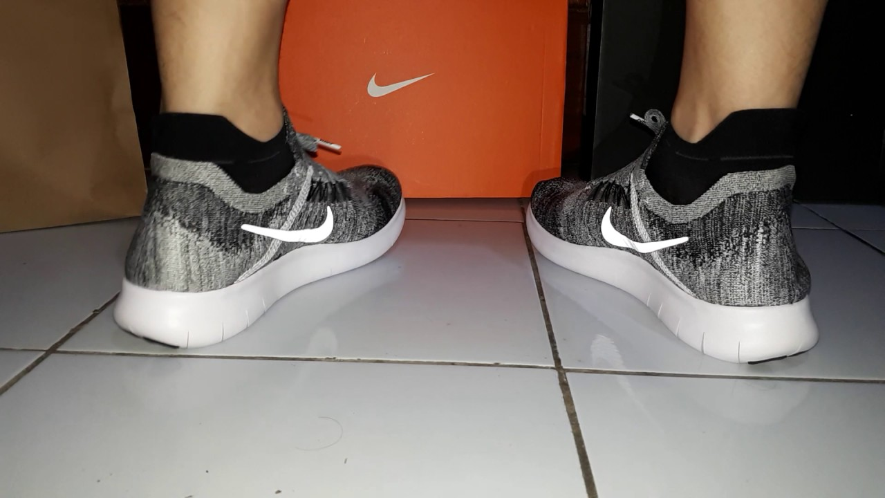 a7db6f65fe0 ON FEET Nike Free RN FLYKNIT 2017  OREO  Better than Flyknit Racer ...