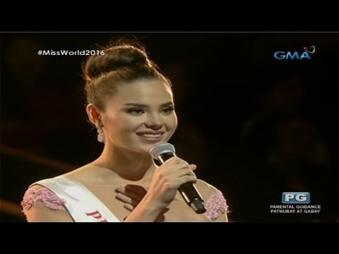 Miss World 2016: Catriona Gray's Q&A