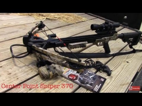 Best Crossbow For The Money! Center Point Sniper 370 Review!  Must See