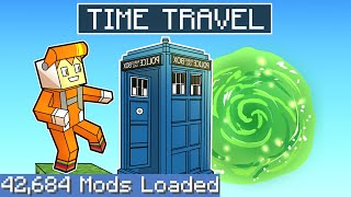 WE BECAME TIME TRAVELERS on one block skyblock on the largest minecraft modpack