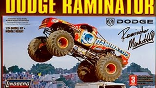 How to Build the Dodge Raminator Monster Truck 1:24 Scale Lindberg ...