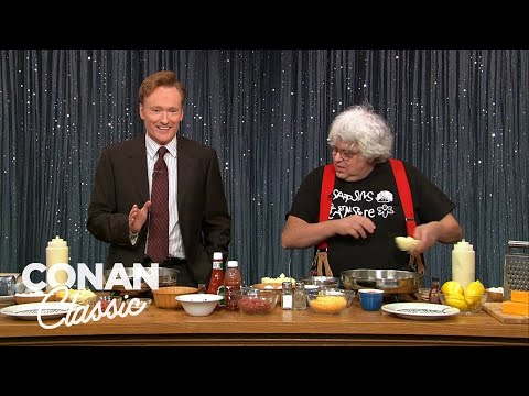 "Conan Makes Pancakes With Kenny Shopsin - ""Late Night With Conan O'Brien"""