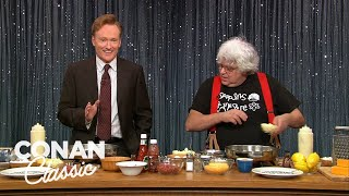 """Conan Makes Pancakes With Kenny Shopsin - """"Late Night With Conan O'Brien"""""""